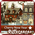 Žaidimas Cherry New Year 5 Differences