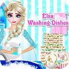 Žaidimas Elsa Washing Dishes